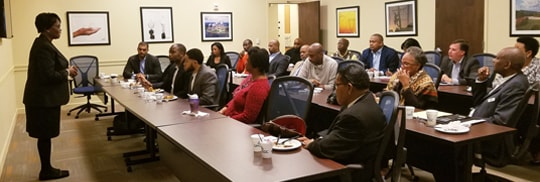 First Friday Breakfast held at GMSDC office